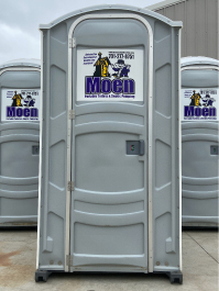 Clean portable toilet from Moen Portables